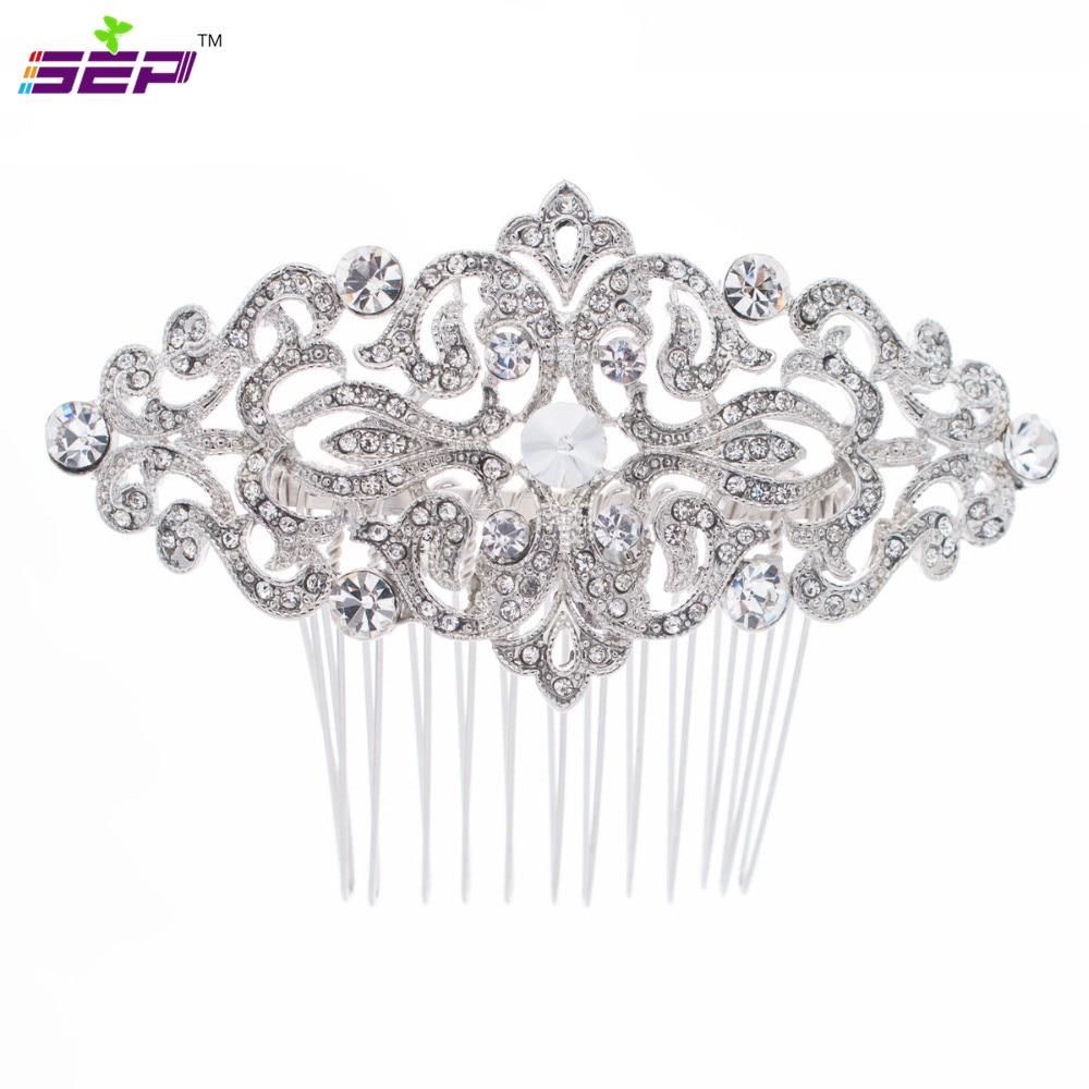 Popularni češalj za kosu s bočnim kristalima za mladenke za - Modni nakit - Foto 1
