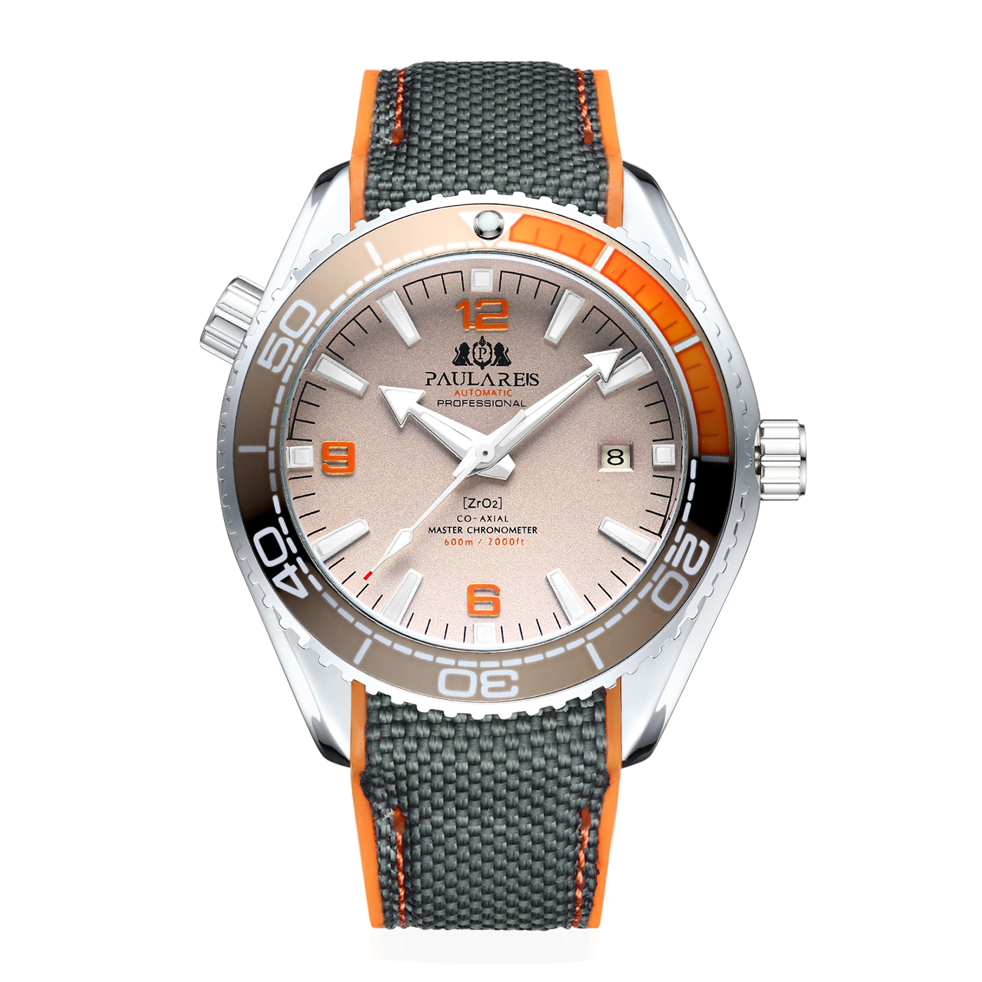 Rubber-Strap Watch Rotatable Bezel Self-Wind-Mechanical-Canvas Classic James-Bond 007-Style