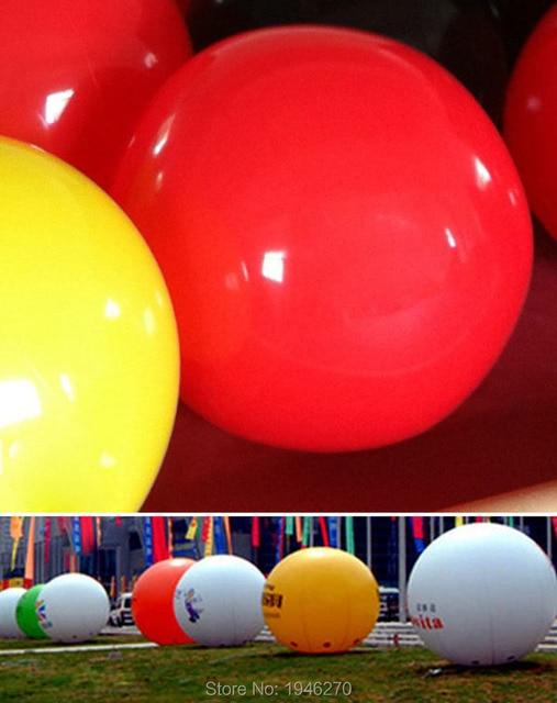 Inflatable 80cm Big Balloon Solid Color Wedding Decorations Garden