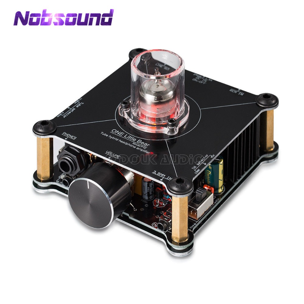 2018 Nobsound HiFi Mini Classe Un 12AU7 Tube Multi-Hybride Casque Amplificateur Stéréo Pré-Amp Little Bear P10