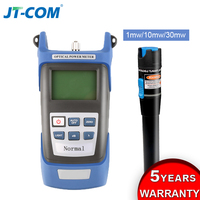 Portable Fiber Optical Power Meter Laser Source 1mW 10mW 30mW Visual Fault Locator Red Light Tester Pen FC/SC Connector VFL OPM