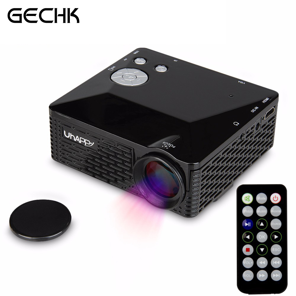Mini LED Projector BL-18 Portable Pico Projektor 60Lumen Full HD Proyectores AV/VGA/SD/USB/HDMI Video Proyector Beamer Projector