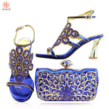 8847913be23892 New 2018 design African shoes and matching bags Summer Sandals Italian  shoes and bag set women