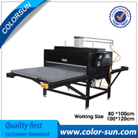 Flatbed printer double place heat press machine for pneumatic or air