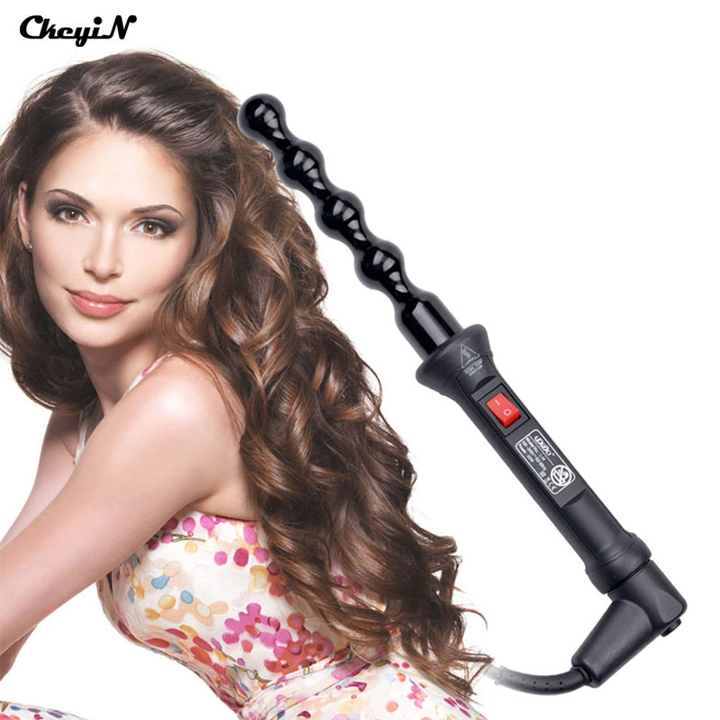 110-240V Professional Hair Curler Ceramic Roller Bead Curling Wand Machine, Women Magic Curls Styling Tools, Hair Iron Curler 56 multifunctional styling electric 110 240v 5 in 1 styling set hair straighten hair curling iron hair curler roller comb