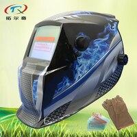 Verdunkeln schweißhelm mit auto darkeing objektiv filter handschuh schweißer automatische schweißen maske schleifen kontrolle von außen GD01 (2233FF) GY