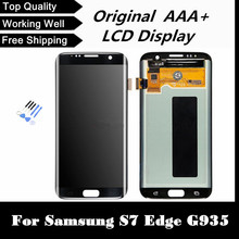 100% Original Gold Silver Black LCD Screen Display With Digitizer Assembly For Samsung S7 Edge G935 G935F G935A G935V gifts.