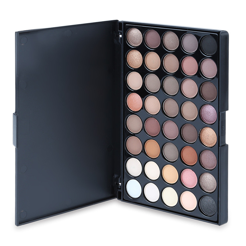 POPFEEL 40 color eyeshadow warm color smoke makeup makeup plate pearl matte multicolor eye shadow disc hot sale
