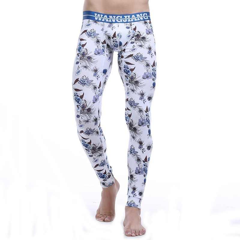 a1576b3d927da1 Detail Feedback Questions about Winter Men Thermal Underwear Cotton Long  John Tight Pants WANGJIANG Brand Sexy Pouch Man Warm Leggings Low Waist  Sleep ...
