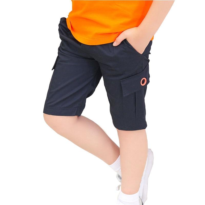 Детские шорты Обувь для мальчиков 2018 Пляжные шорты для Обувь для мальчиков Регулируемый эластичный пояс для больших мальчиков спортивные Ш... ...