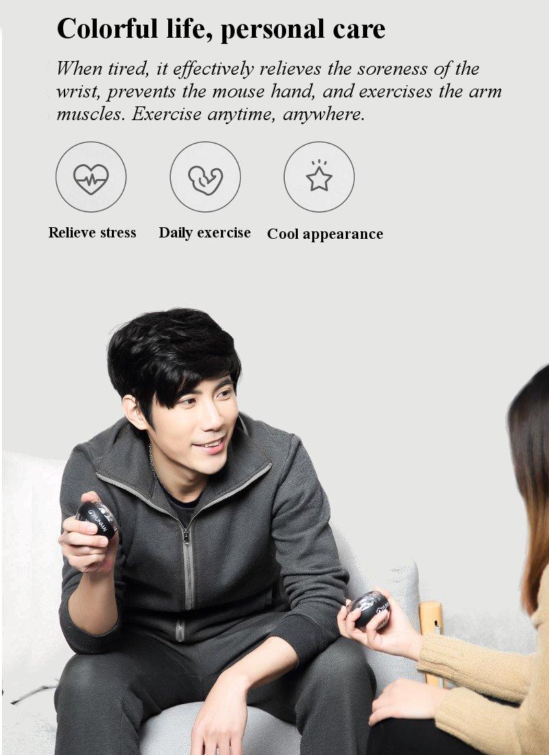 Xiaomi mijia yunmai Wrist Trainer LED Gyroball Essential Spinner Gyroscopic Forearm Exerciser Gyro Ball for Mijia mi home kits # (4)