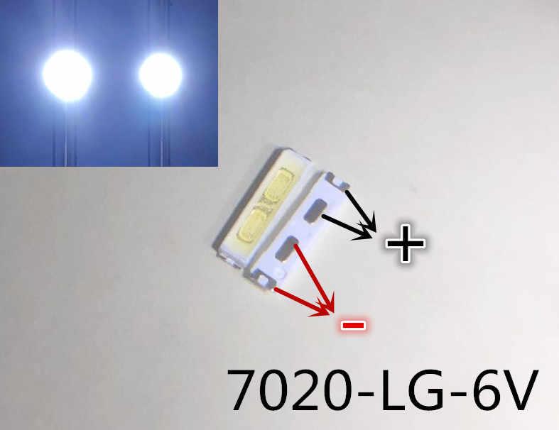 150 sztuk/partia do naprawy lg 32 do 55-cal telewizor LCD podświetlenie LED artykuł lampa LED SMD 7020 6V zimny biały dioda elektroluminescencyjna