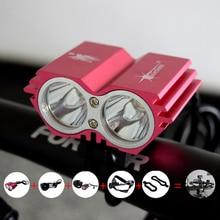 Waterproof LED Bike Light + Battery + Cargador de accesorios para bicicletas luz de La Bicicleta de Ciclo de La Lámpara Del Faro