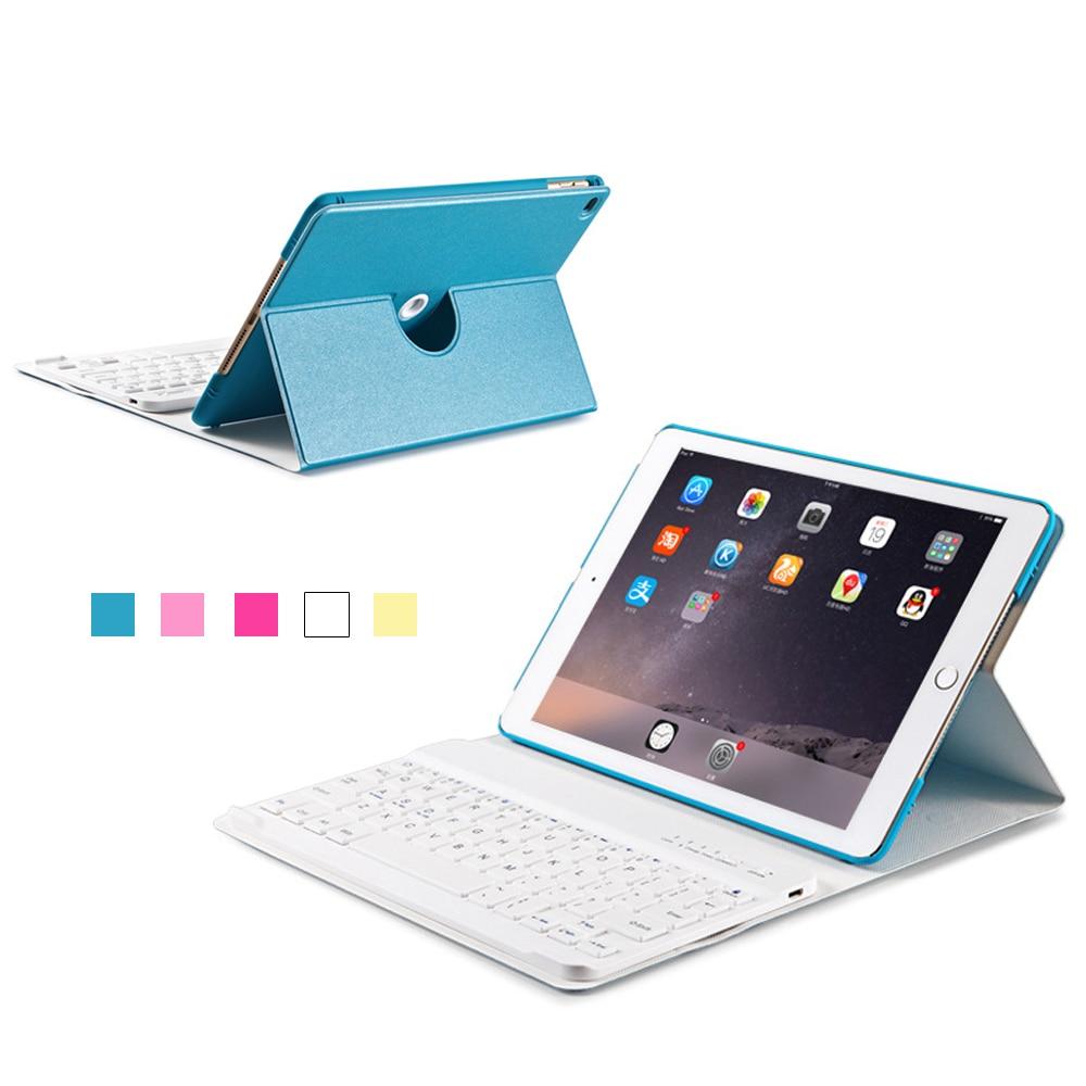 купить Thin PU Leather Cover Case for iPad mini 1 2 3 with Removable Bluetooth Keyboard по цене 1230.32 рублей