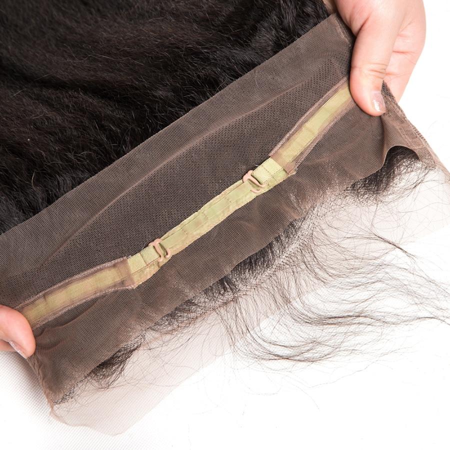 [ALIPOP] Προσελλόμενη 360 Lace Μετωπιαία - Ανθρώπινα μαλλιά (για μαύρο) - Φωτογραφία 6
