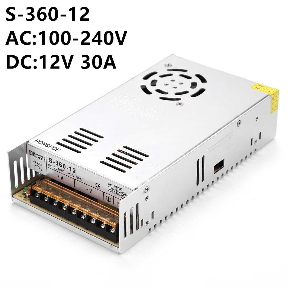 100PCS 12V 24V  Switching Power Supply 360W AC100-240V Input DC to 12V 30A or 24V 15A Packing can be DIY nes series 12v 35w ul certificated switching power supply 85 264v ac to 12v dc
