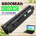 9 cell 6600mAh Black Laptop Battery for MSi U100 U90 U200 U210 U230 BTY-S11 BTY-S12 for LG X110 for MEDION Akoya Mini E1210