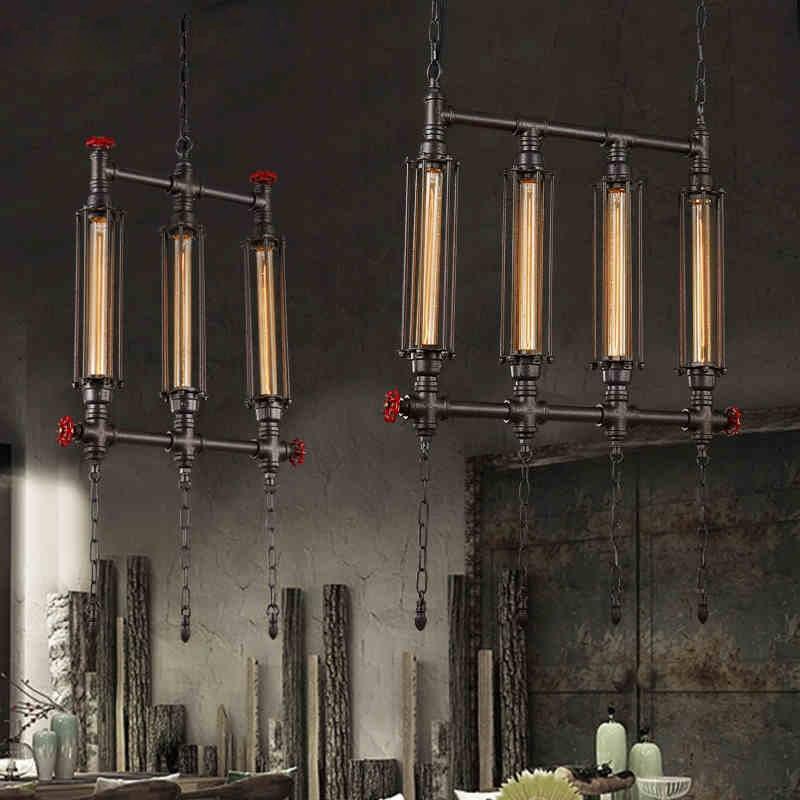 где купить American Waterpipe Droplight Vintage Hanging Pendant Light Fixture Industrial Retro Lamp Lustres Restaurant Home Indoor Lighting по лучшей цене
