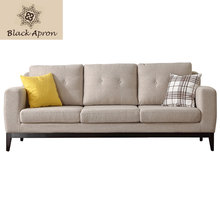 European Three Seaters Sofas For Living Room Muebles Modern Sofa Sets Sectional Sofas Home Furniture Grey A63C(China)