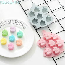 2pcs Creative Unicorn 7-Grid Pony Silica Gel Cake Mold DIY Chocolate Mold Silica Gel Kitchen Fool Baking Tool Dessert Funny Cute