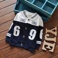 2016 versión Coreana de los nuevos niños ropa de otoño párrafo niños 69 algodón de un solo pecho chaqueta de punto niño chaqueta