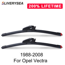 SLIVERYSEA Replace Wiper Blade for Opel Vectra 1988-2008 Natural Rubber Windshield Auto Car Accessories