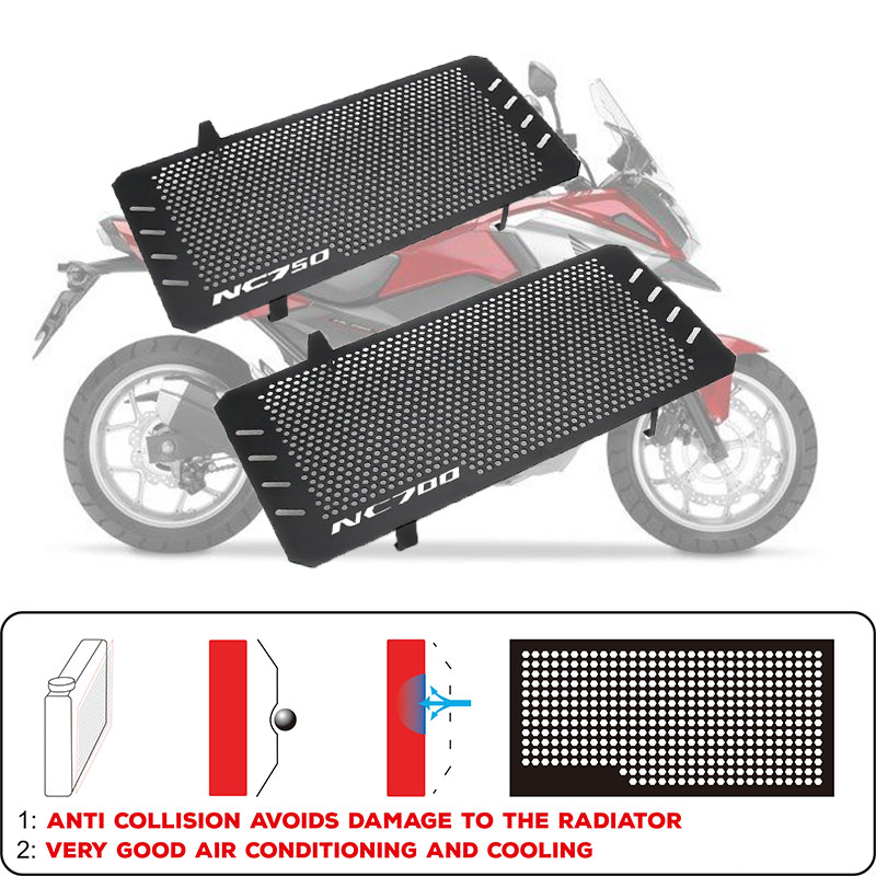 Motorcycle accessories Engine Radiator Bezel Grille Protector Grill Guard Cover For Honda NC700X NC700S NC750X NC750S 2012-2018