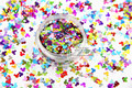 MA4-285  Holographic MIix Colors Mickey Mouse shape Glitter 4.0MM Size Glitter for nail Art  makeup DIY and Holiday decorations