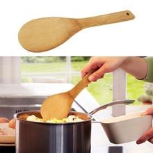 Стильная кухонная новая бамбуковая рисовая ложка Лопатка деревянная посуда кухонная Ложка инструменты практичная посуда здоровая рисовая лопатка A60