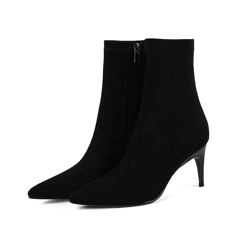Bottes Bureau Au Hiver gris Bout Superstar L99 Krazing Cheville Pot Chaud Chaussures Taille Dame Étrange 2018 Garder Noir Style Grande Troupeau Pointu Femmes iuOkXPZ