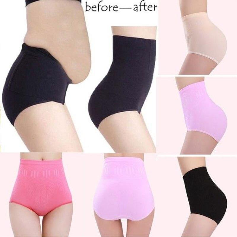 Ladies Underwear Womens High Waist Tummy Control Body Shaper Briefs Slimming Pants Black