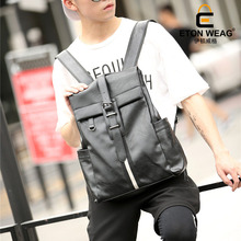 ETONWEAG New 2017 women famous brands cow leather black business style backpacks luxury laptop school bags casual schoolbag