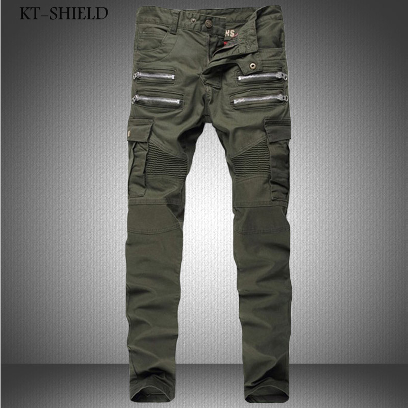 fashion hip hop pants Zipper trousers famous brand cotton vaqueros hombre camouflage men Cargo pants skinny biker jeans homme fashion 3d printed embroidery jeans men biker ripped slim full length pants cotton cargo harem casual trousers vaqueros hombre