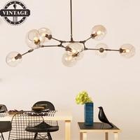 Black Gold Decorative Loft Industrial Pendant Lights Bar /Dining Room Glass Shade Retro Lindsey adelman Pendant Lamp Fixtures