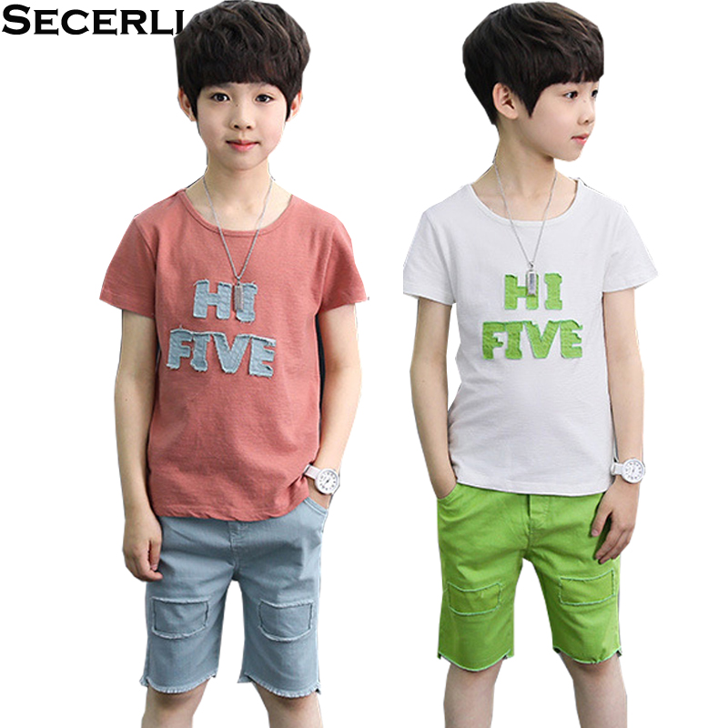 Boys Casual Clothes 2018 Kids Boys Clothing Set Summer 3 To 15 Years Short Sleeve T Shir ...
