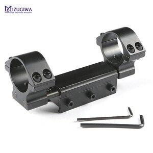"""Image 5 - Montagem flexível do escopo do rifle 25.4mm 1 """" / 30mm anel adaptador superior liso com pino de parada 20mm/ 11mm picatiiny ferroviário tecelão de encadernação nenhum logotipo"""
