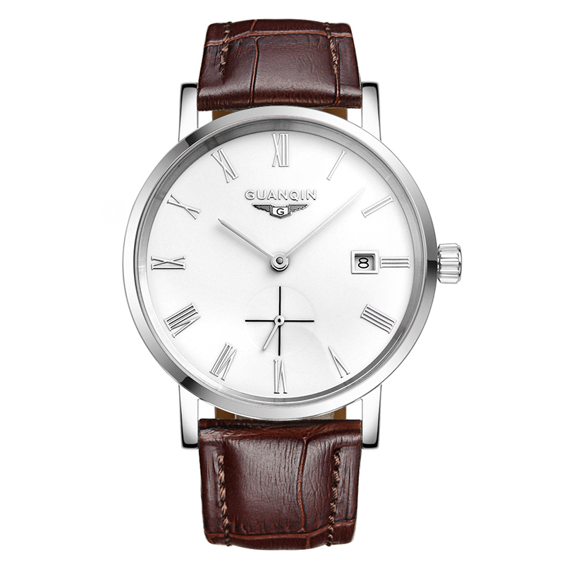 GUANQIN GJ16028 watches men luxury brand automatic mechanical watch waterproof thin section watch male leather leisure watch guanqin gj16056 watch women luxury brand japan miyota mechanical watch leather automatic ultra thin watch female watch couple