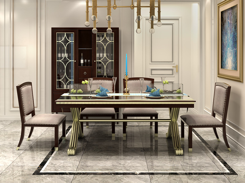 Luxury Modern Dining Table And Chair