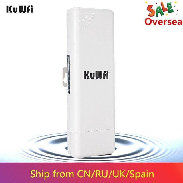 KuWFi 2KM Wireless חיצוני CPE WIFI נתב 5.8G 900 נקודת הגישה 300mbps AP נתב 1000mW WIFI גשר WIFI מהדר WIFI Extender