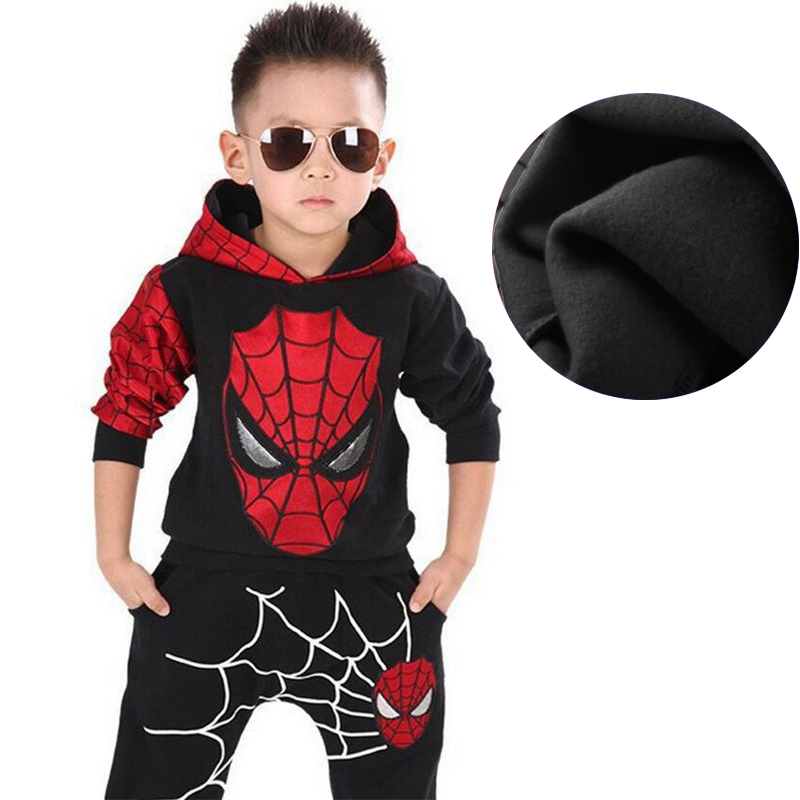 Children Clothing Autumn Winter Toddler Boys Clothes Sets Spiderman Costume Kids Clothes For Boys Clothing Suit 3 4 5 6 7 Year 12