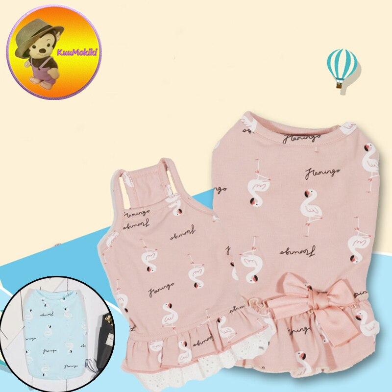 Dog Couple suit pet dress dresses Dog T shirt Pet Clothes dogs vest vests clothing Vestidos New Arrivals pet skirt Lemon design