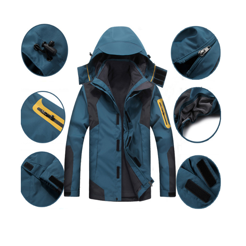 MAZEROUT waterproof Winter 3in1 Windproof hiking fishing skiing climbing Camping Mountain cycling trekking Outdoor Men Jacket-in Hiking Jackets from Sports & Entertainment    2