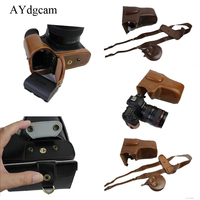 New Luxury Pu Leather Camera Video Case Bag Cover For Canon 6D II 6D Mark II 6D2 Camera With Strap Open Battery Design