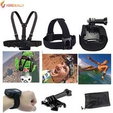 HOMEREALLY Gopro Accessory Set Chest Strap Soft Camera Bag For Gopro Hero 5 4 3+ SJ4000 SJ5000 SJ7 SJ6 SJ9 M10 M20 Yi 4K Camera