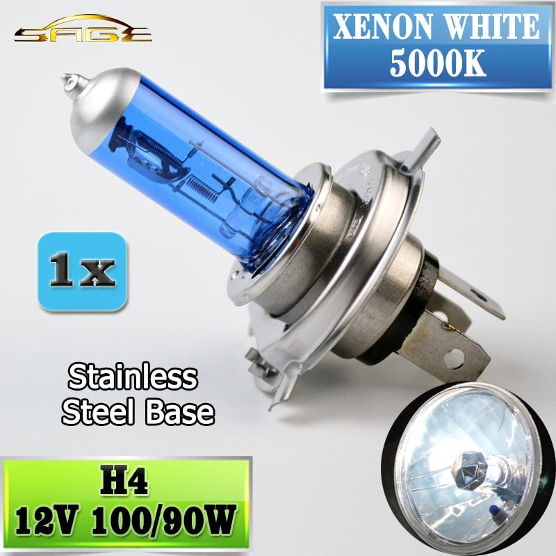flytop H4 Halogen Bulb 12V 100/90W 5000K Xenon Dark Blue Glass Car HeadLight Lamp Super White танк tanked racing электрический аккумулятор автомобиля мотоцикл шлем лето шлем шлем t506 черный l