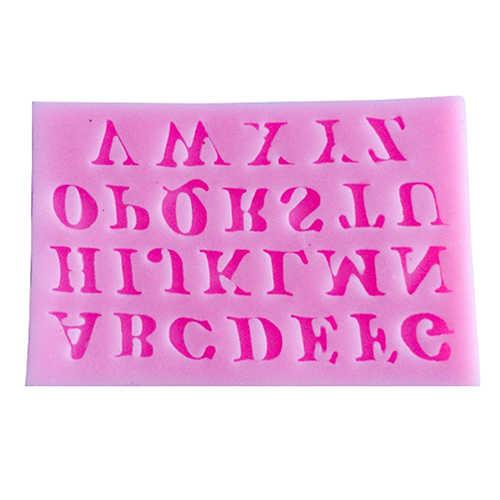 Silikon alfabe mektubu serisi tepsi çikolata fondan kek kalıbı dekorasyon aracı Bakeware malzemeleri sıcak parti araçları