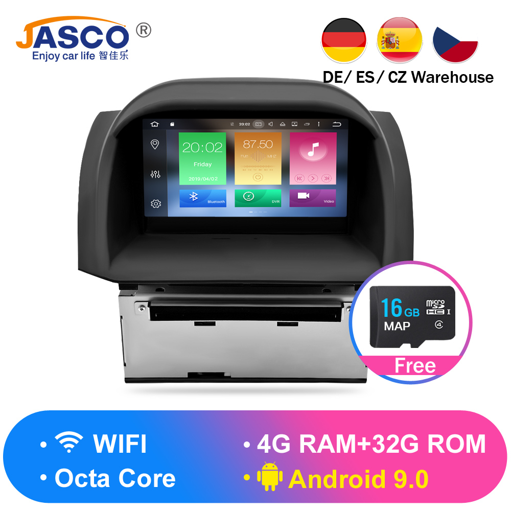 4 G Android 9.0 Car DVD Stereo For Ford Fiesta 2013 2014 2015 2016 Auto Radio GPS Navigation