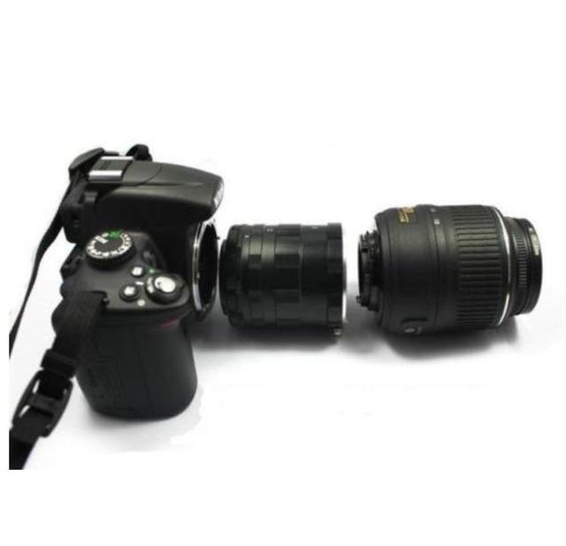 Kim loại Macro Mở Rộng Bộ Ống Nhẫn cho Nikon F Mount D3200 D3300 D3400 D5200 D5300 D5500 D90 D7500 D200 D300