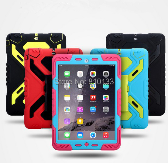 Rotate 360 Total package side Heavy Duty Waterproof Dust/Shock Proof with stand Hang cover SILICONE Case For iPad 6 Air2 дырокол deli heavy duty e0130