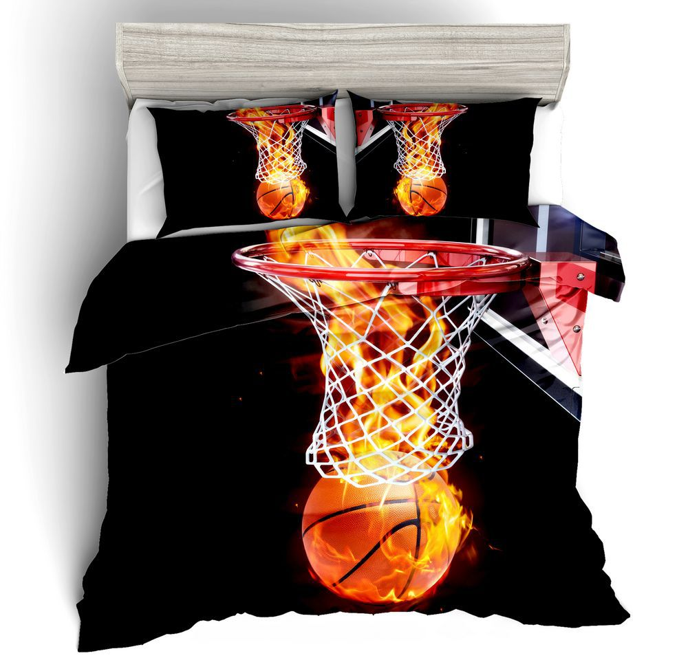 Duvet Cover Basketball star dunk simple wind 2/3pcs British Style Family student dormitory Quilt cover pillowcaseDuvet Cover Basketball star dunk simple wind 2/3pcs British Style Family student dormitory Quilt cover pillowcase